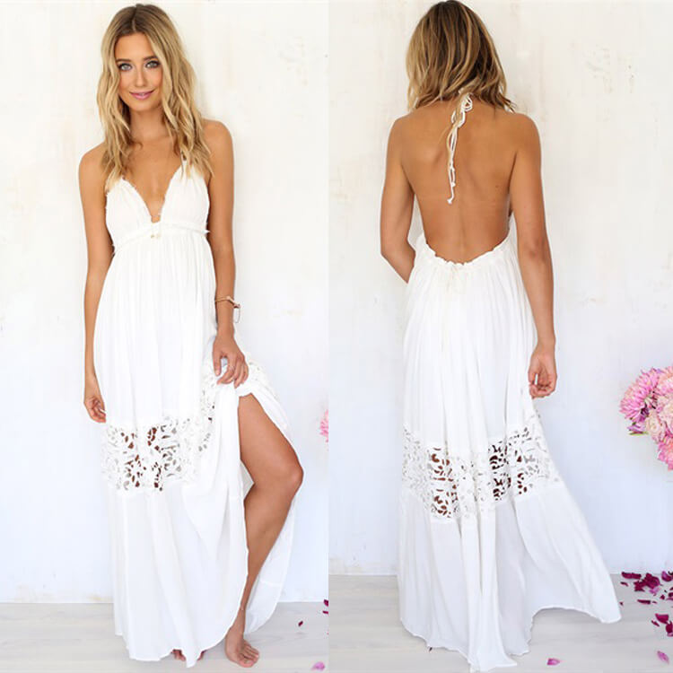 Maxi dress to look taller