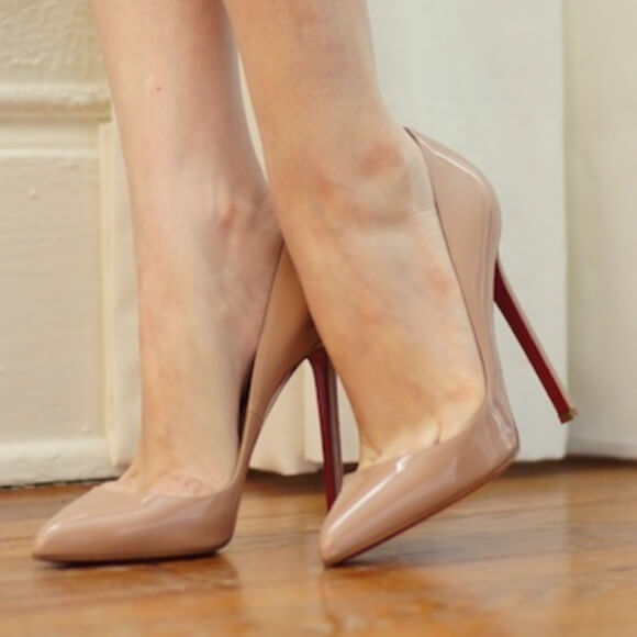 Nude heels to look taller